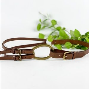 Lauren Ralph Lauren Brown Leather Equestrian Belt